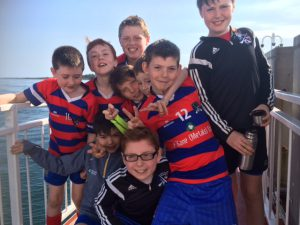 Bríd Óg U12s enjoy the Strangford Ferry trip