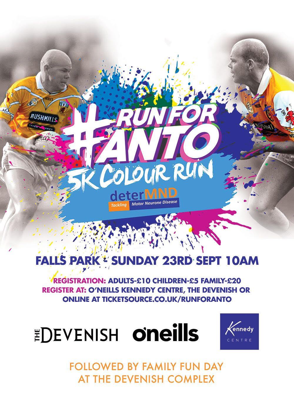 Register For The 'Run For Anto' On Sunday 23rd September!