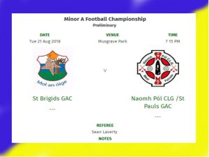 Minor Championship @ Musgrave Tuesday 21st August!!
